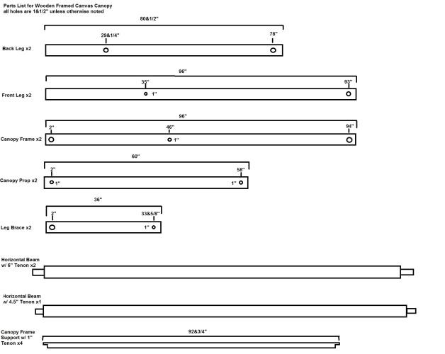 Canopy Frame parts diagram